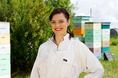 Profile of a Happy female Beekeeper