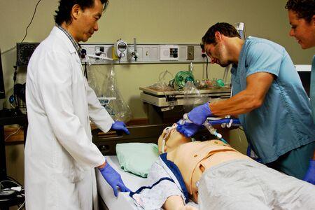 Training lab for health care staff in hospital Standard-Bild
