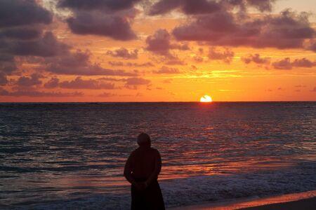 Caribbean sunrise over the ocean