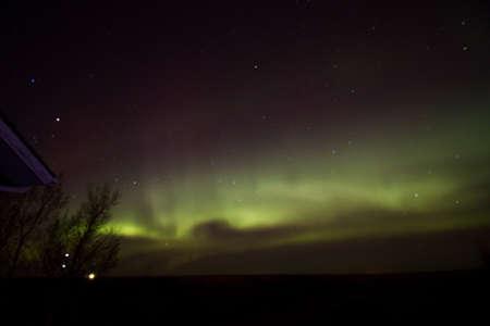 Aurora Borealis on a clear night Standard-Bild