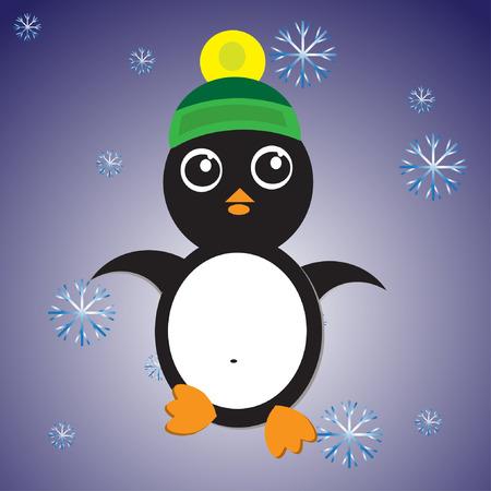 Illustration of the little penguin Stock Vector - 26085676