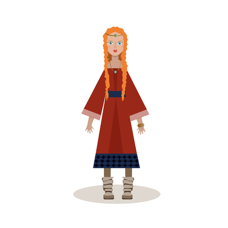 Notable woman viking Illustration