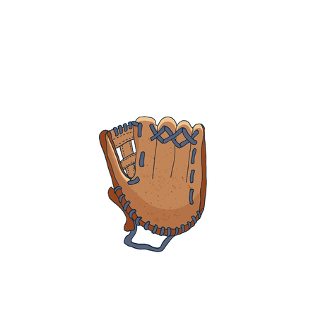 Vector illustration of a baseball glove Baseball equipment.