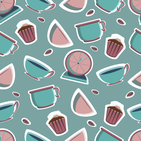 Tools for pastry maker. Vector illustration. Seamless background. Vecteurs