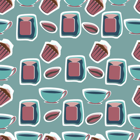 Tools for pastry maker. Vector illustration. Seamless background.