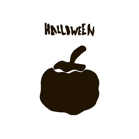 Halloween silhouette character of pumpkin for celebration,  cards template and halloween party decoration.