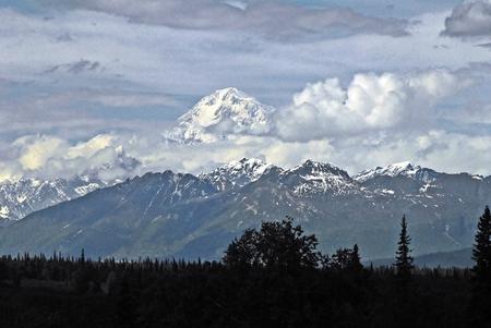 attempts: Mount McKinley, Alaska Stock Photo