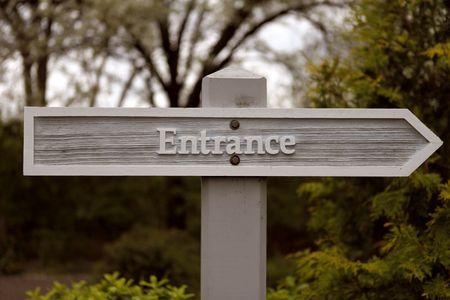 Entrance sign Stock Photo