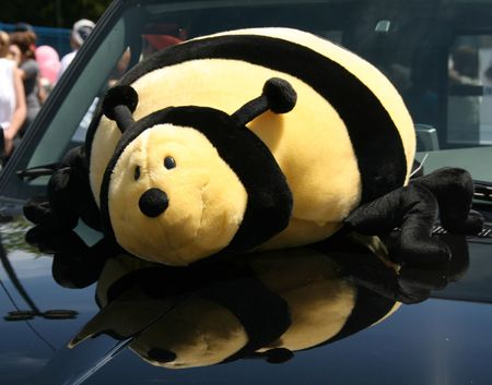 Giant bee mascot