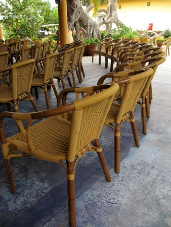 aisles: Empty chairs