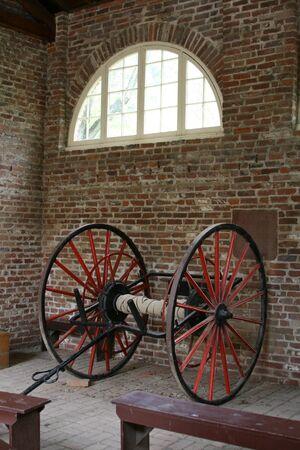 antique: Firehouse wagon Stock Photo