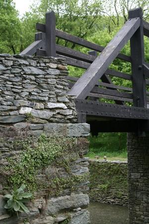 Wooden bridge Stock Photo