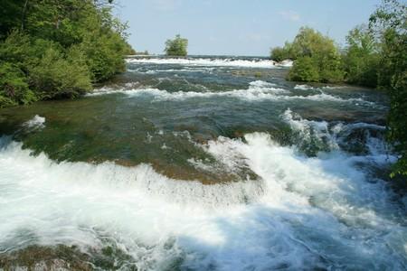 Niagara river on the american side Stock Photo