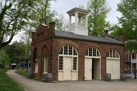 Historic fire station in Harpers Ferry West Virginia