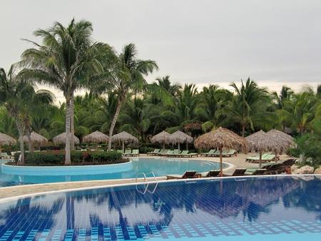 Tropical resort pools