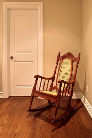Rocking chair in the corner of the room