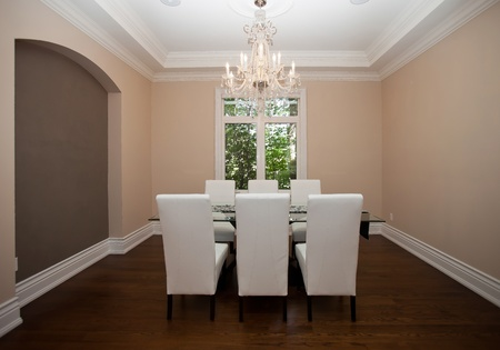 dining room: Elegant dining room in a luxury house