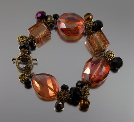 Bracelet made of semi precious stones