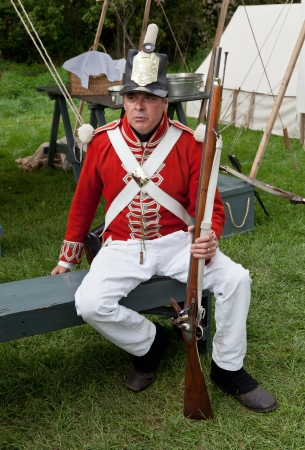 British soldier with a rifle, War 1812 Stock Photo - 15876310