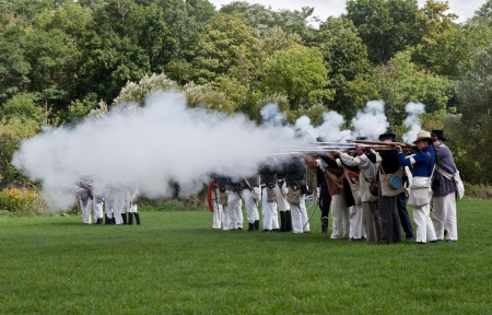 Battle reenactment, War 1812 Stock Photo - 15987366