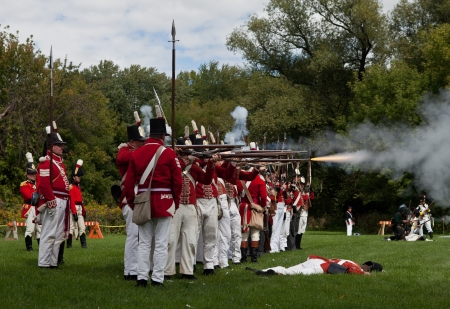 Battle reenactment, War 1812 Stock Photo - 15987364