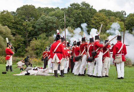 Battle reenactment, War 1812 Stock Photo - 15987365
