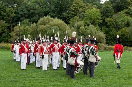 Battle reenactment, War 1812 Stock Photo - 15987367