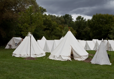 War camp tents Stock Photo - 16850799
