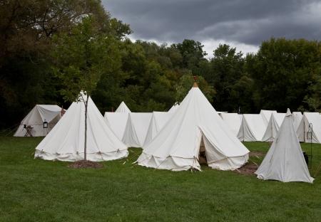 War camp tents