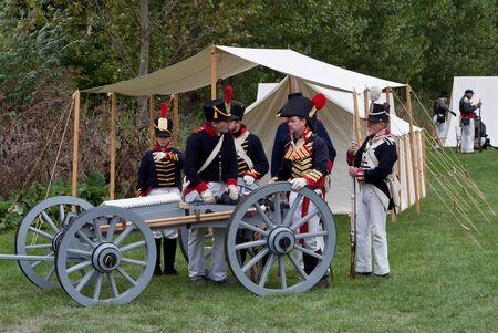 American soldiers before battle, War 1812