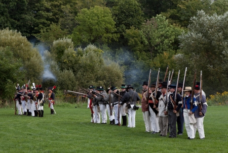 Battle reenactment, War 1812 Stock Photo - 17025846