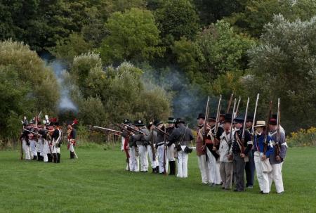 Battle reenactment, War 1812 Stock Photo - 17025846