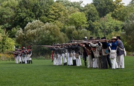 Battle reenactment, War 1812 Stock Photo - 17025838