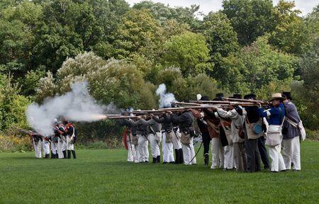 Battle reenactment, War 1812 Stock Photo - 17025839