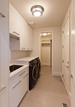 Laundry room in new luxury house Stock Photo