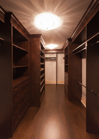 luxury house: Empty closet in new luxury house