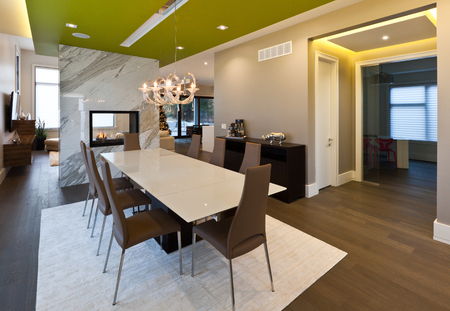 Dining room in new luxury house