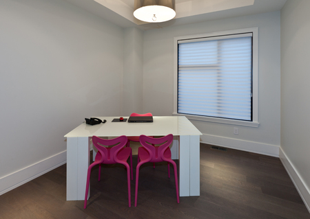 Empty home office in new luxury house