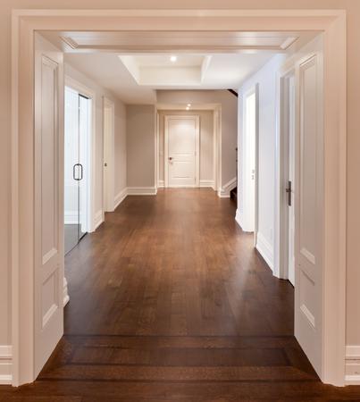 Empty hallway in luxurious house