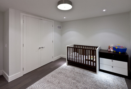 Empty baby room in new luxury house