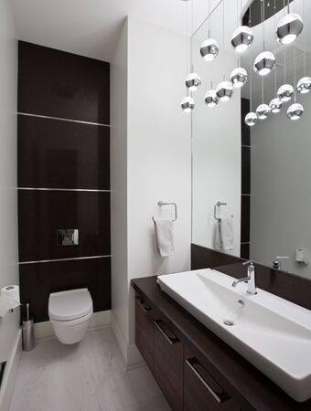 powder room: Powder room in new luxury house