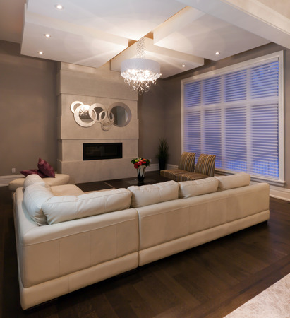 Living room in new luxury house Stock Photo