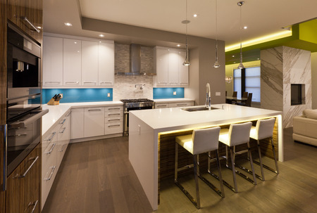 luxury house: Modern kitchen in new luxury house