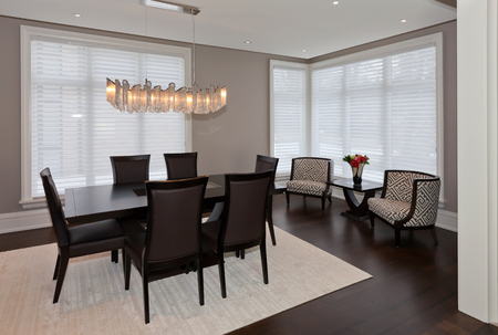 Elegant dining room in a luxury house