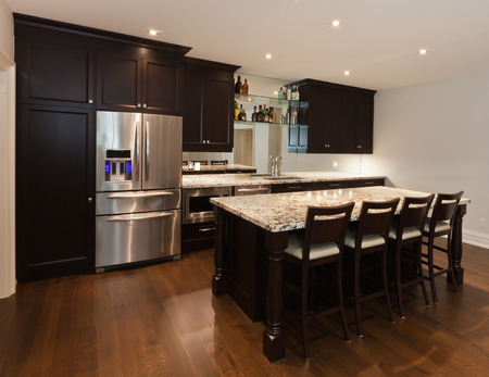 Basement kitchen in new luxury house