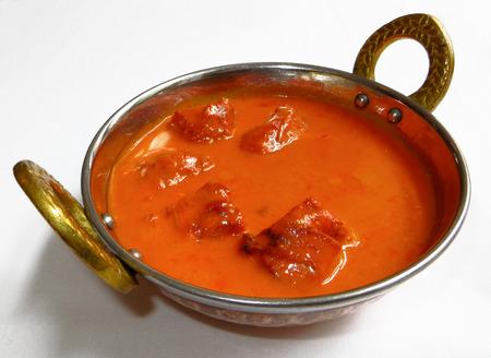 Butter chicken dish, indian cuisine