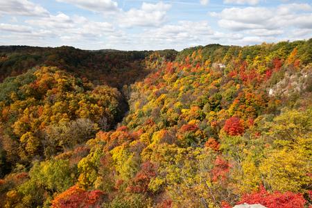 Autumn landscape in Dundas Peak, Ontario, Canada Stock Photo