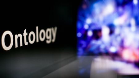 Ontology Cryptocurrency token. The behavior of the cryptocurrency exchanges, concept. Modern financial technologies. 写真素材