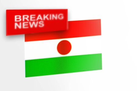 Breaking news, Niger country's flag and the inscription news, concept for news feeds about the country Niger