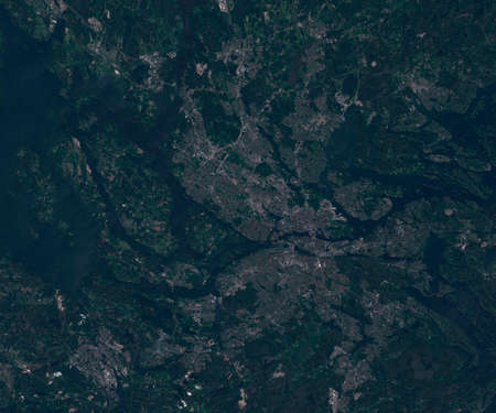 Satellite map of Stockholm Sweden, view from space. contains modified Copernicus Sentinel data